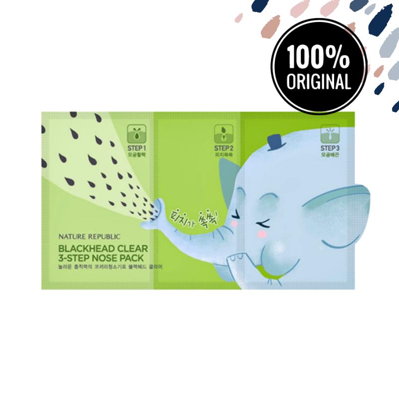 Набір для очищення пор 3 в 1 NATURE REPUBLIC Blackhead Clear 3-Step Nose Pack