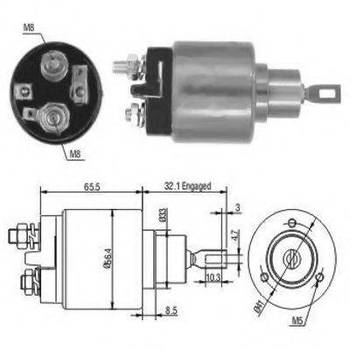 Втягивающее реле стартера Bosch 0331303070