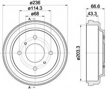 Тормозной барабан Nissan 4320095F0A