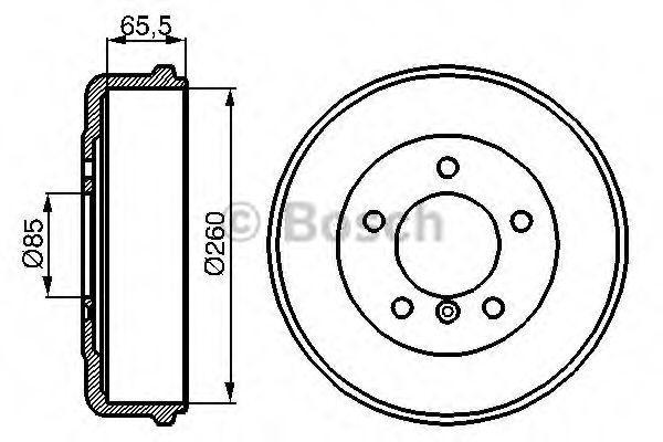 Тормозной барабан Bosch 0986477038