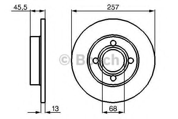 Диск тормозной передний Bosch 0986478016