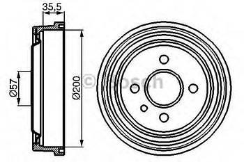 Барабан тормозной Bosch 0986477021