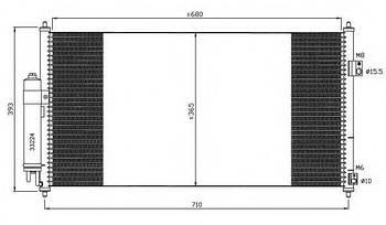 Радиатор кондиционера Nissan 921009H21A