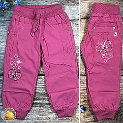 Летние малиновые брюки с манжетом для детей Размеры: 2,3,4,5,6,7 лет (20334-1)