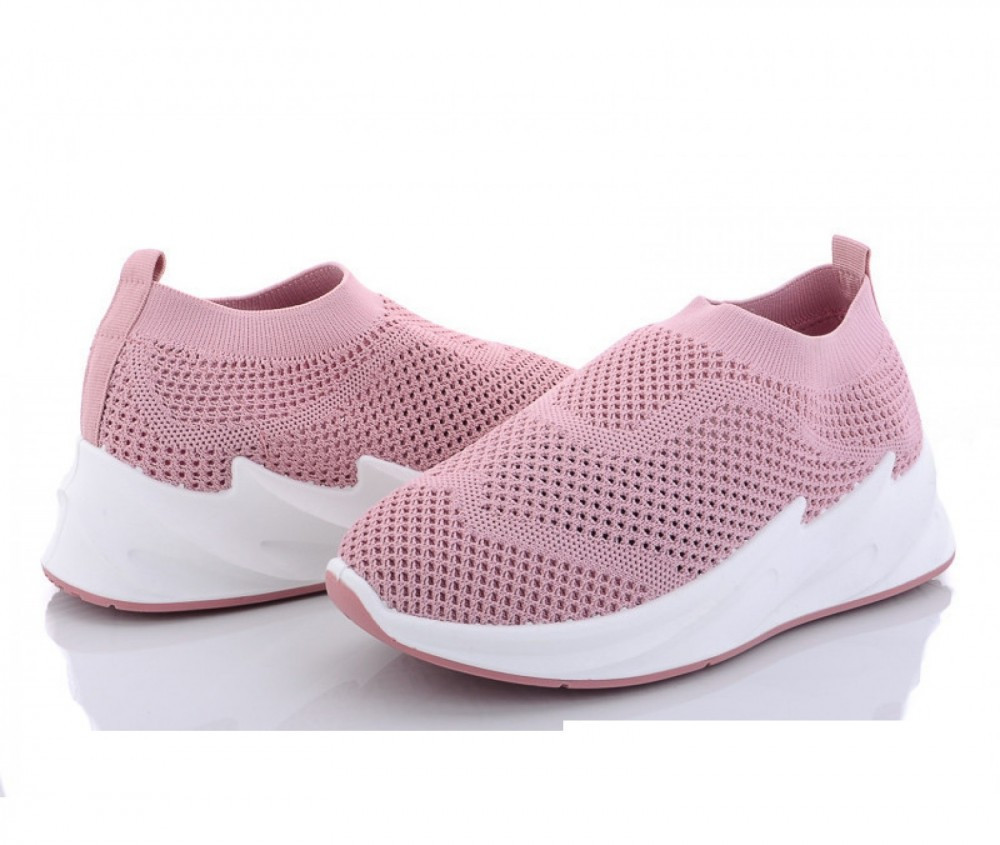 Женские кроссовки из сетки в розовом цвете