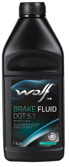 Тормозная жидкость BRAKE FLUID DOT5.1, 1л WOLF 8308307