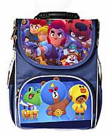 Ранец школьный каркасный рюкзак детский ортопедический Бравл Старс Леон Leon