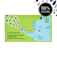 Пластырь от черных точек NATURE REPUBLIC Blackhead Clear Nose Pack
