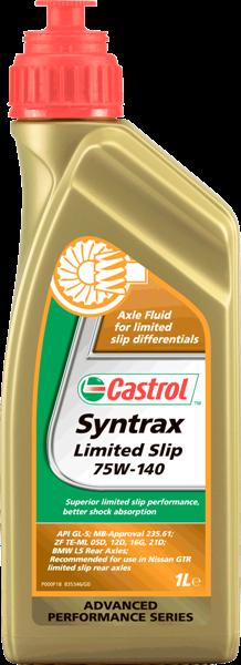 Масло трансмиссионное синтетическое Syntrax Limited Slip 75W-140, 1л Castrol 15001B