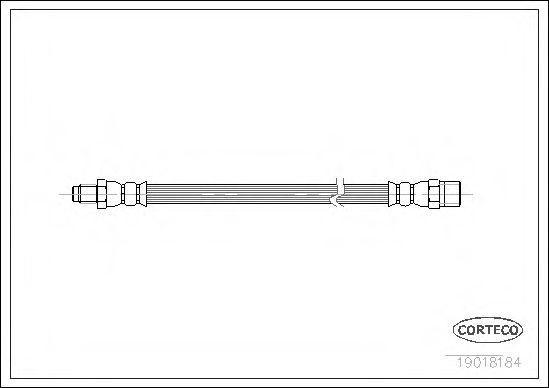 Шланг тормозной системы Corteco 19018184