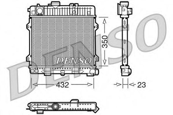 Радиатор охлаждения двигателя Denso DRM05024