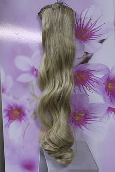 Волосся штучні на заколках термоволокно блонд