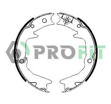 Тормозные колодки барабанные PROFIT 50010011