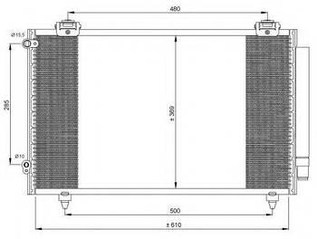 Радиатор кондиционера KOYORAD CD010305