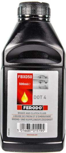 Тормозная жидкость DOT-4, 0.5л Ferodo FBX050