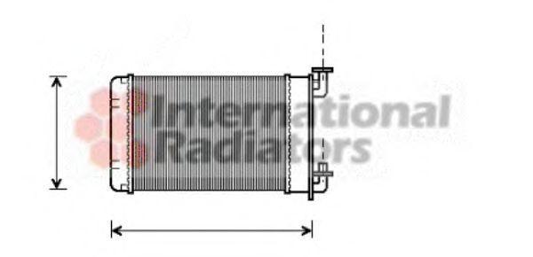 Радиатор отопителя Van Wezel 06006022