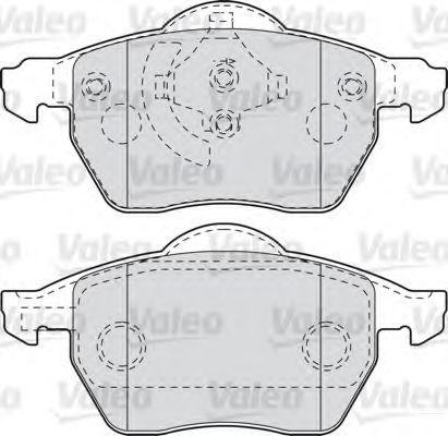 Тормозные колодки Valeo 301008