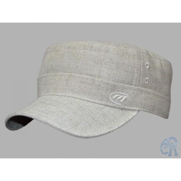 Бежевая  мужская кепка немка льняная  размер 56-57