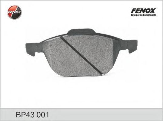 Колодки тормозные дисковые передние, комплект FENOX BP43001