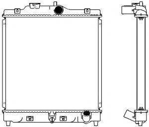 Радиатор системы охлаждения медный Sakura 22121004