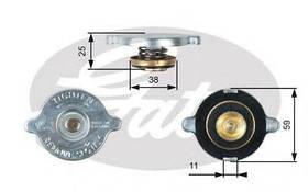 Крышка радиатора Gates RC122