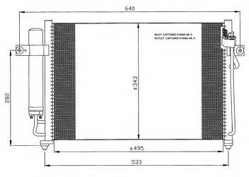 Радиатор кондиционера HCC 976061C350