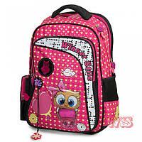 Рюкзак школьный ортопедический для 1-4 классов Winner stile 194-2 для девочек 29 см * 15 см * 40 см Малиновый