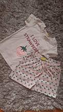 Гарний бавовняний комплект, піжама для дівчинки від Impidimpi, Німеччина, 86-92 см