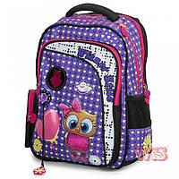 Рюкзак школьный ортопедический для 1-4 классов Winner stile 194-2 для девочек 29 см * 15 см * 40 см Фиолетовый