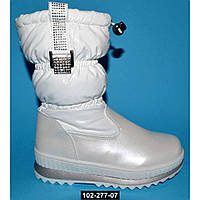 Зимние сапоги для девочки, 27 размер / 17.5 см, непромокающие дутики на меху, 102-277-07