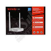 Роутер TENDA N301 (N300, 1xWan, 3xLan, 2 антенны по 5дБи)