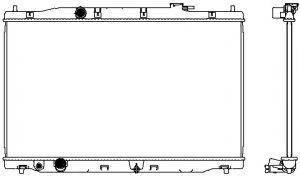 Радиатор охлаждения двигателя Honda 190105LAA51