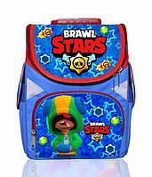Ранец школьный каркасный рюкзак детский ортопедический Бравл Старс Leon Леон