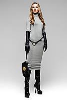 Платье Длинное Ангора Серое S-XL