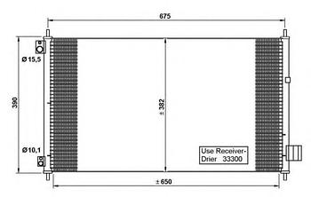 Радиатор кондиционера Honda 80110SEA013
