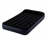 """Надувной матрас-кровать односпальная Intex """"Pillow Rest"""" (99х191х30см) (66767)"""