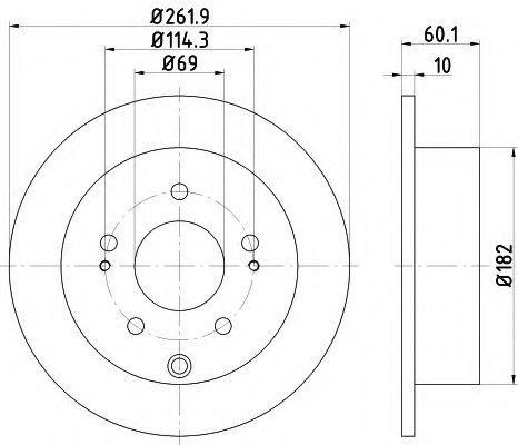 Диск тормозной Mitsubishi 4615A110