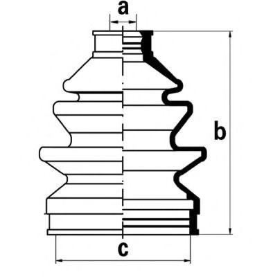 Пыльник ШРУСа наружного Hyundai/Kia 0K2N222530