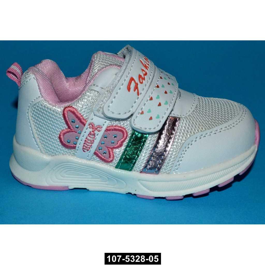 Дышащие кроссовки для девочки, 21-25 размер, Tom.m, кожаная стелька, супинатор, 107-5328-05