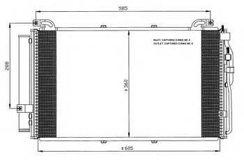 Радиатор кондиционера Hyundai/Kia 976061D110