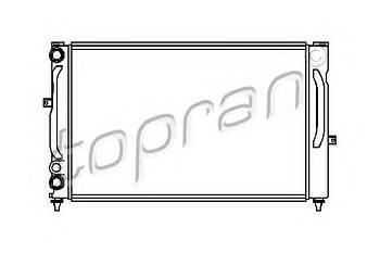 Радиатор охлаждения двигателя Topran 107151