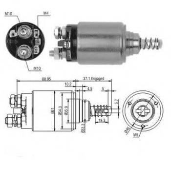 Втягивающее pеле стартера Bosch 0331402001