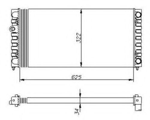 Радиатор охлаждения двигателя Magneti Marelli 350213104203