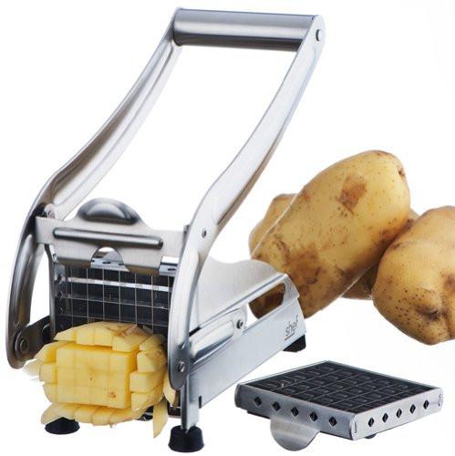 Картофелерезка (овощерезка) механическая, устройство для резки картофеля фри Potato Chipper ave