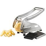 Картофелерезка (овощерезка) механическая, устройство для резки картофеля фри Potato Chipper ave, фото 8