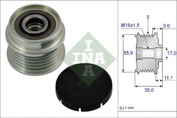 Шкив генератора INA 535000510