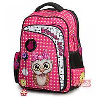 Рюкзак ортопедический школьный для девочки для 1-4 класс розовый Winner stile 194-1 Сова 29 * 15 * 40 см