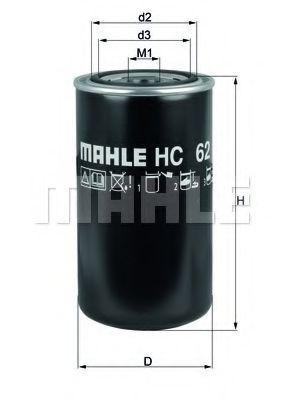 Фильтр масляный двигателя Knecht (Mahle) HC62