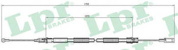 Трос стояночного тормоза LPR C0007B