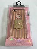 Чехол для iphone 6/6S силиконовый прозрачный с полосками под металл, с колечком, со значком доллара COV-034 ave, фото 3